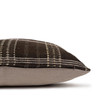 North Handspun Indian Wool Ivory and Brown 24 inch Pillow - Side