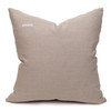 North Handspun Indian Wool Ivory and Brown 24 inch Pillow - Back