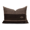 Park Handspun Indian Wool Ivory and Brown 24 inch Pillow - Front