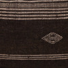 Park Handspun Indian Wool Ivory and Brown 24 inch Pillow - Detail