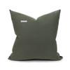 Sophie Tourmaline Cotton Velvet Decorative Pillow - Back