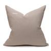 Mojave Linen Aso Oke Luxe Vintage Pillow - Noir - 22 - Back