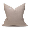 Galaxy Linen Aso Oke Luxe Vintage Pillow - Noir - 22 - Back