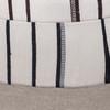 Galaxy Linen Aso Oke Luxe Vintage Pillow - Noir - 22 - Fabric Detail