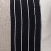 Mojave Natural Linen Noir Aso Oke Luxe Vintage Lumbar Pillow - 16 x 22 - Fabric Detail