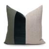 Celine Green Tourmaline Linen Velvet Pillow - Front