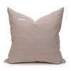 Celine Smokey Quartz Linen Velvet Pillow - Back