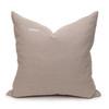 Celine Smokey Quartz Linen Velvet Pillow - Back