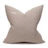Coast Natural Linen Aso Oke Stripe Luxe Vintage Pillow - 22 - Back