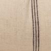 Chester Handspun Indian Wool Ivory and Brown stripe 14 x 36 inch Lumbar Pillow - Fabric Detail