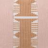 Regal Nude Linen Aso Oke Stripe Luxe Vintage Pillow - 1622 - Detail