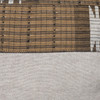 Autumn Natural Linen Aso Oke Stripe Luxe Vintage Pillow - Detail