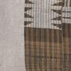 Autumn Natural Linen Aso Oke Stripe Luxe Vintage Lumbar Pillow - Details