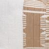 Trina Lumbar Pillow - Aso Oke Natural Linen Pillow with White Mud Cloth- 1420 - Detail
