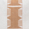 Trina Pillow - Aso Oke Natural Linen Pillow with White Mud Cloth- 20 - Detail