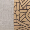 Kuba Natural Linen and Aso Oke Lumbar Pillow - 1622- Details