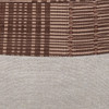 Umber Natural Linen and Aso Oke Pillow - 22- Detail