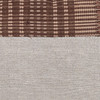 Umber Lumbar Natural Linen and Aso Oke Pillow - 1427- Details