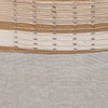 Olive Natural Linen and Aso Oke Pillow - 22- Details