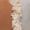 Muse Linen Lumbar Fringe Pillow in Sunstone- 1436-  Details