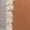 Muse Linen Lumbar Fringe Pillow in Sunstone- 2636-  Detail View
