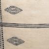 Beck Handspun Indian Wool Ivory and Black Pillow- 22- Details