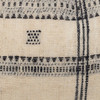 Rocco Lumbar Pillow in Black & Ivory, Hand Loomed Indian Wool-1427- Details