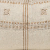Myra Lumbar Pillow in Creme & Ivory, Hand Loomed Indian Wool-1420- Details