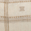 Knox Lumbar Pillow in Creme & Ivory, Hand Loomed Indian Wool-1420-  Details