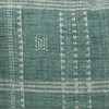 Park Handspun Indian Wool Ivory and Mint 24 inch Pillow - Details