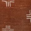 """Taos Pillow, Rust and Ivory Mud Cloth Pillow - 22""""- Side View"""