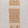 Akili Natural Linen and Aso Oke Pillow - 20- Detail
