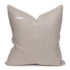 Angel Luxe Vintage Pillow with African Aso Oke Textiles and 100% Eco-friendly Topanga linen in Natural & Cotton Velvet- 22- Back