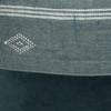 Beck Handspun Indian Wool in Mint & Tourmaline Velvet Pillow- 22- Details