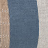 Bristol Blue Luxe Vintage Pillow with African Aso Oke Textiles and 100% Eco-friendly Topanga linen in Natural- 1436- Detail