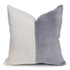 Carre Blush Velvet Pillow in Moonstone - 22- Front
