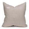 Carre Blush Velvet Pillow in Moonstone - 22-  Back View