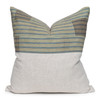 Cliff Luxe Vintage Pillow with African Aso Oke Textiles-22- Front View