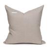 Davina Natural Linen and Aso Oke Pillow - 20- back view