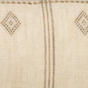 Dillon Lumbar Hand woven wool Pillow in Ivory & Sage- 1436- Details
