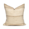 Eliss - Hand Loomed wool Indian stripe pillow - 18 x 18- Front View