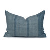Eliss - Hand Loomed wool Indian stripe lumbar pillow - 14 x 20- Front View