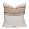 Ember Natural Linen and Aso Oke Pillow - 22- Front View