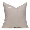 Fawn Natural Linen and Aso Oke Pillow - 22- Back View