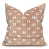 """Gill Pillow, Rust and Ivory Mud Cloth Pillow - 22""""- Front"""