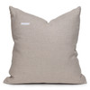 """Gill Pillow, Rust and Ivory Mud Cloth Pillow - 22""""- Back View"""