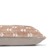 """Gill Pillow, Rust and Ivory Mud Cloth Pillow - 22""""- Side View"""