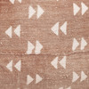 "Gill Lumbar Pillow, Rust and Ivory Mud Cloth Pillow - 16 x 22""- Details"