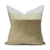 Harp Luxe Vintage Pillow with African Aso Oke Textiles and 100% Eco-friendly Topanga linen in Natural & Cotton Velvet- 20- Front View