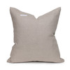 Harp Luxe Vintage Pillow with African Aso Oke Textiles and 100% Eco-friendly Topanga linen in Natural & Cotton Velvet- 20-  Back View